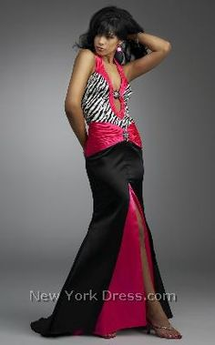 Zebra print evening gown- on the fence about this one. It would have to be a bold event of some kind.