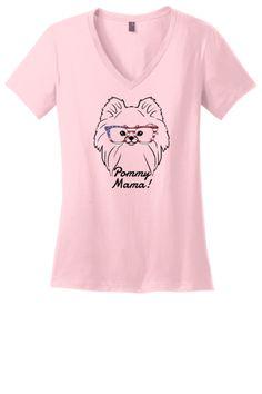 Pomeranian Mama Ladies T-Shirt (Shirts Run Small) 53af3db0485b