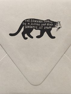 Mountain Lion Return Address Custom Stamp  | Sycamore Street Press
