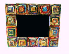 Recycled Paper Frames from Fair Trade Muchos colores! Recycled Paper Frames from Fair Trade Recycled Magazine Crafts, Recycled Magazines, Recycled Crafts, Diy Arts And Crafts, Diy Craft Projects, Diy Crafts, Upcycling Projects, Craft Ideas, Newspaper Frame