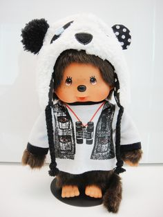 Monchhichi with panda hat~