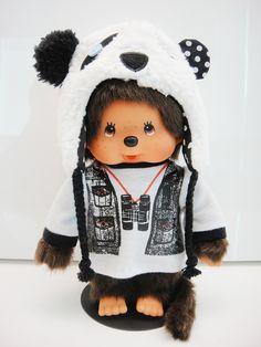 Monchhichi with panda hat~