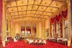 Painting of Windsor Castle dining room