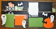 The Boo Crew 2 Page 12x12 Scrapbook Layout | eBay