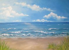 Shop for ocean art from the world's greatest living artists. All ocean artwork ships within 48 hours and includes a money-back guarantee. Choose your favorite ocean designs and purchase them as wall art, home decor, phone cases, tote bags, and more! Beach Watercolor, Watercolor Landscape, Seascape Paintings, Landscape Paintings, Beach Scene Pictures, Beach Scene Painting, Ocean Artwork, Ocean Scenes, Beach Art