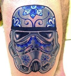 I like the design on the troopers helmet..not your typical storm trooper tattoo