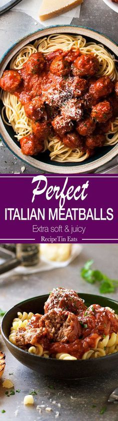These Italian Meatballs the best you will ever make....with 2 little changes to the usual recipe, these are extra soft with a special…