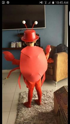 Crab costume Disfraz de cangrejo DIY …