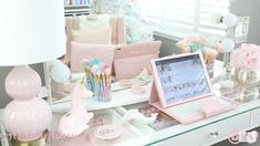 Girly Things, Vanity, Mirror, Pastels, Furniture, Home Decor, Girl Things, Dressing Tables, Powder Room