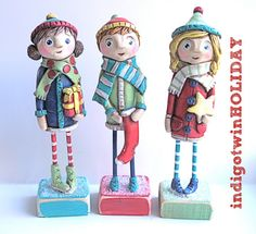 Winter Boy Christmas Decoration holding by indigotwinholiday