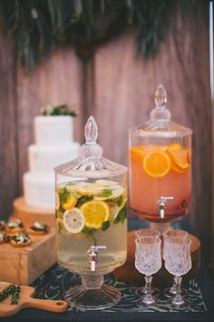 Flavored water ⎪Amy Kate Photography⎪see more on: http://burnettsboards.com/2015/08/enchanting-tuscan-wedding-ideas/