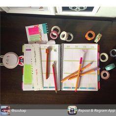 Planejar também pode ser um momento de terapia...a nossa cliente @suukap AMA Compre online www.paperview.com.br • receba em casa #meudailyplanner #planejamento #dailyplanner #decorate