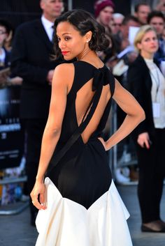 Zoe Saldana attends the 'Star Trek Into Darkness' premiere at the Empire Leicester Square in London.