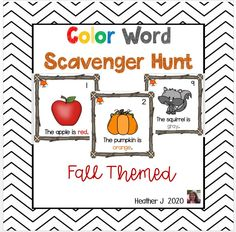 Color Word Scavenger Hunt just in time for fall! Get your students up and moving and reading simple sentences and writing color words with this fall themed activity. Dollar Deal!