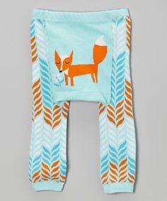 Look at this #zulilyfind! Blue & Orange Fox Leggings - Infant #zulilyfinds