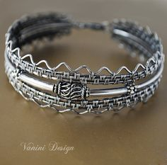 Crisium Fine/Sterling and Bali silver bracelet by vanini on Etsy, $394.00