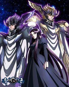 Saint Seiya. Pandora, Thanatos & Hypnos