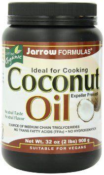 Jarrow Formulas Coconut Oil 100% Organic, 908 Grams: Health & Personal Care