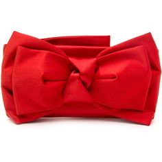 Valentino Red Satin Bow Clutch ($640) ❤ liked on Polyvore featuring bags, handbags, clutches, red purse, red valentino, red handbags, red valentino purse and red clutches