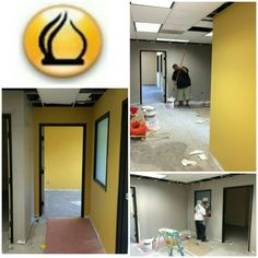 """La fortuna favorece a 'los audaces' (fortune favors the bold)"" as they say....and those are definetly 'bold' colors being painted on the walls of El Triunfo Corporation's new offices in Santa Ana, CA being designed by Raad Ghantous & Associates / RG&A!!   #OfficeInteriors #OfficeDesign #Construction #California #Remodeling #RaadGhantous #ElTriunfo #LatinoBusiness #BusinessMan #SantaAna #Color #Colors #Branding #Bold #SmartBusiness"