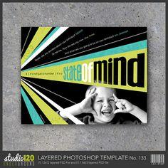 Digital Scrapbook Template No. 133 – Layered Photoshop File – Instant Download – Scrapbook Layout – Wall Art – 12x12 – 11x8.5 – Modern