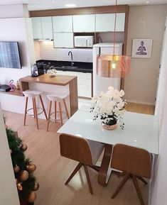 41 Fraud, Deceptions, and Downright Lies About Inspiring Tiny Kitchen Design Ideas Exposed – homedecorsdesign Tiny Kitchen Design, Living Room Kitchen, Apartment Interior, Living Room Decor Apartment, Apartment Living Room, Home Decor, Apartment Decor, Home Deco, Dining Room Decor