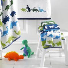 Boy's Bath Towel With Dinosaurs