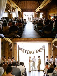 rustic wedding ceremony at Devil's Thumb Ranch - well, I found my altar!!!
