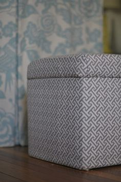 how to make a new sew storage ottoman cover