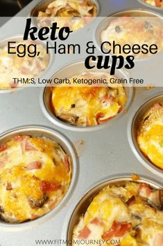 Looking for an amazingly tasty and easy breakfast idea that is Keto Friendly, THM Friendly, and Low Carb? Your whole family will love these Keto Ham Egg Cups, whether they're keto or not!