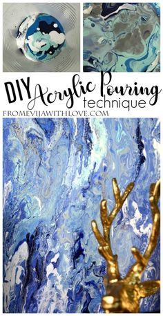 Trying out the Acrylic Pouring Technique - From Evija with Love. Acrylic Pouring technique for beginner - step by step guide with materials and paints used Acrylic Painting Tips, Using Acrylic Paint, Acrylic Wall Art, Acrylic Resin, Pour Painting, Resin Art, Diy Painting, Arts And Crafts Furniture, Furniture Projects