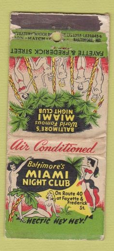 Miami Nightclub #matchbook cover To design & order your business' own…