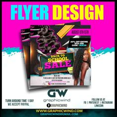Top Flyer of the day Back to School Sale Flyer designed by graphicwind For more info contact web www.graphicwind.com or email us at graphicwind@gmail.com Flyer Design, Logo Design, Back To School Sales, Sale Flyer, Creative Design, Pure Products, Instagram, Top, Crop Shirt
