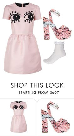 """RedValentine Dress"" by chvbbynymph on Polyvore featuring RED Valentino, Giamba, River Island, women's clothing, women, female, woman, misses and juniors"