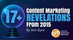 17+ Content Marketing Revelations from 2015