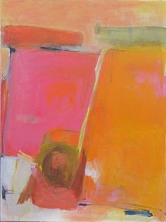 Jong Ro | abstract colorful painting | red orange and yellow artwork