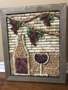 Wine Craft, Wine Cork Crafts, Wine Bottle Crafts, Crafts With Corks, Wine Cork Projects, Wine Cork Art, Wine Bottle Corks, Bottle Candles, Art Diy