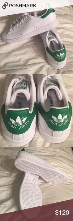 NIB NEW ADIDAS STAN SMITH ORIGINALS SNEAKER SHOE THE HOTTEST SHOE OF SUMMER! Get the white leather sneaker that all of Hollywood is wearing - for a reason- the comfort!!! Womens size 8. NIB never worn or removed from box. Thanks! adidas Shoes Athletic Shoes