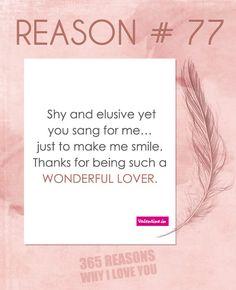 Reason why I love you # 77