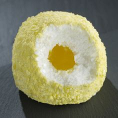 TARTUFO LEMONCELLO Single serving Lemon gelato with a liquid limoncello core sprinkled with crushed lemon meringue.