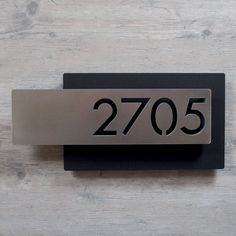 Custom Modern Layered Floating House Numbers Horizontal Offset in StainlessThe Modern and Sleek house number sign made from stainless steel. Office Door Signs, Door Signage, Front Door Hardware, Door Numbers, Door Number Sign, House Address, Floating House, Signage Design, House Numbers Modern