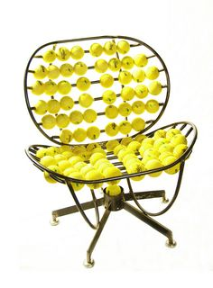 Recycled tennis ball chair. #modern #art ...BTW, check this out!!!! : http://artcaffeine.imobileappsys.com