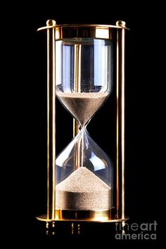 hourglass | Hourglass Sand Timer On Black Photograph