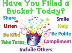 Image result for bucket filler printables