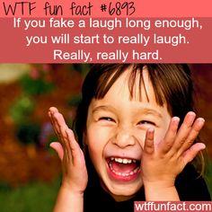 Fake laughing - WTF fun fact