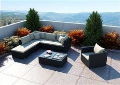 Sedacia súprava z umelého ratanu Venezia 1 M Outdoor Sectional, Sectional Sofa, Outdoor Furniture Sets, Outdoor Decor, Sofy, Design, Home Decor, Balconies, Modular Couch