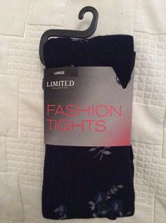 M&S LIMITED collection LUXURY FASHION TIGHTS Warm BNWT size L Black & blue