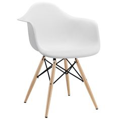The body is made of high stregth polypropylene with wood dowel base, skidproof foot included to ensure safety. This is a true classic chair that will compliment