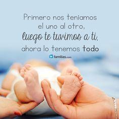 #frases de #amor y #familia #yoamoamifamilia www.familias.com Pregnancy Quotes, Baby Quotes, Mom Quotes, Life Quotes, My Little Baby, Mom And Baby, Baby Love, Baby Boy Photos, Baby Pictures