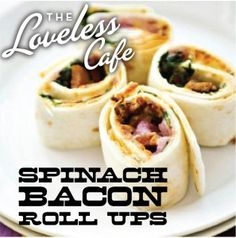 Spinach-Bacon Roll-Ups Makes approximately 30
